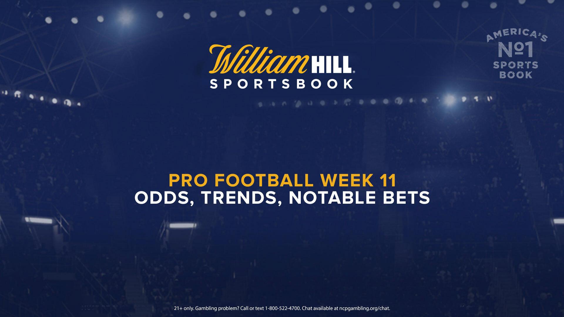 nfl betting odds week 11