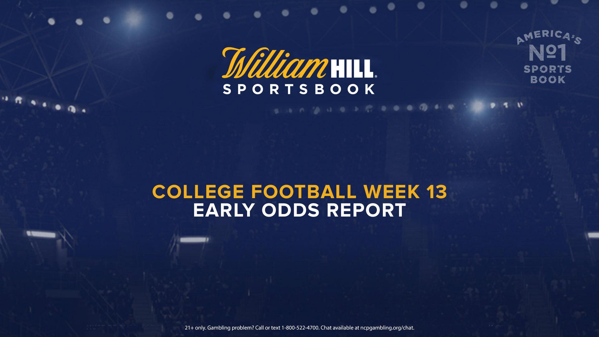 football betting odds week 13